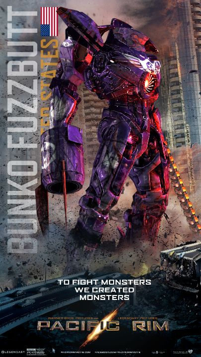 I just designed my own Pacific Rim Jaeger. And named it after my cat (the ultimate fighting machine)!