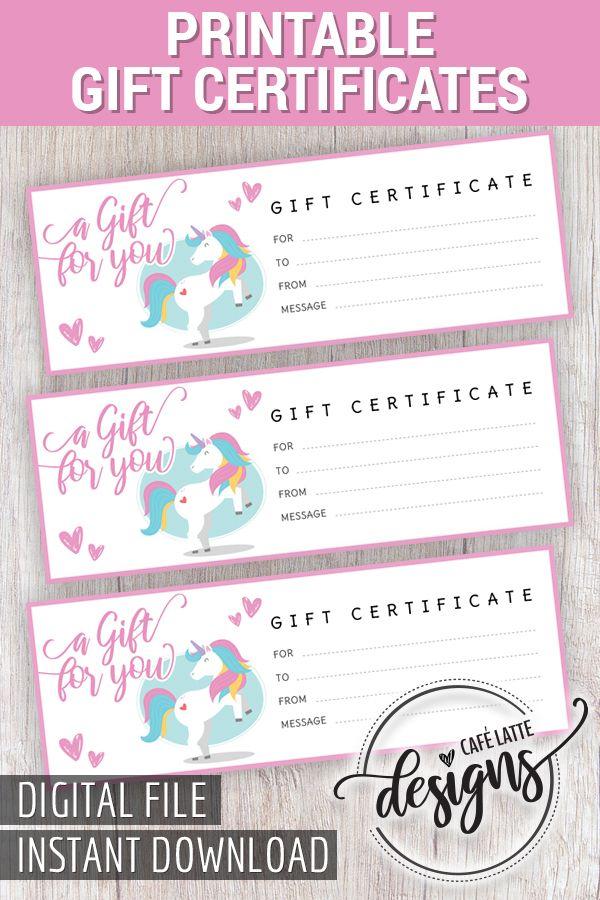Birthday Gift Certificate, Christmas Gift Certificate, Gift