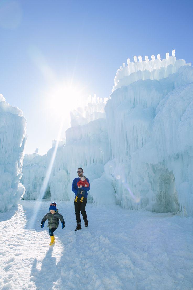 exploring ice castles in utah!