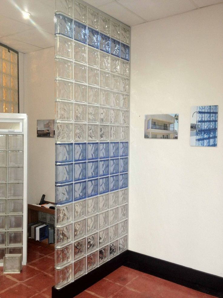 Diy Wall Dividers Glass Block Concrete Block And Wood