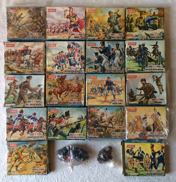 18 BOX LOT VINTAGE 70'S AIRFIX HO SCALE PLASTIC TOY SOLDIERS FRENCH UK WWI WWII #Airfix