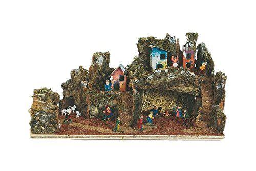 Viscio Trading 152850 Presepe Completo, Legno, Marrone, 17X35X17 cm