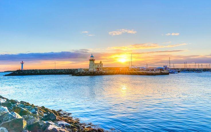 солнце, дублин, ирландия, небо, лучи