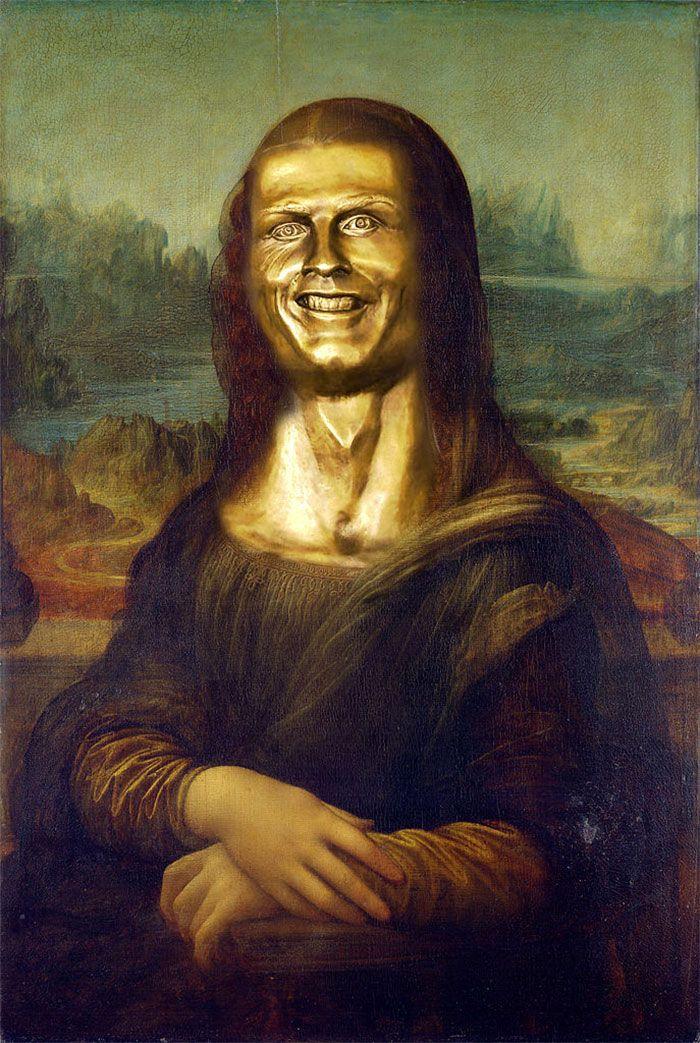 Cistiano Ronaldo Statue Fail Mona lisa, Malarstwo i