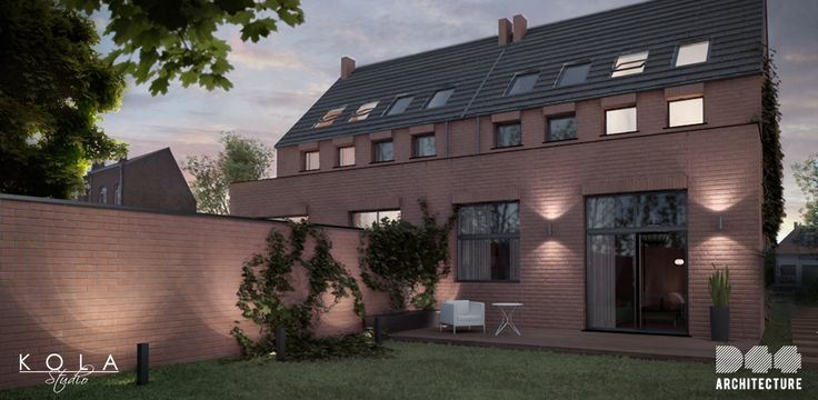 Belgian style city house. Visualization of a project by D44 Architecture.