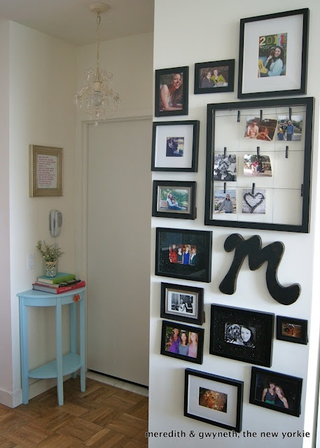 frame, wire, and clothespin picture holder