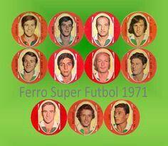 Ferro Carril Oeste of Argentina team card in 1971.