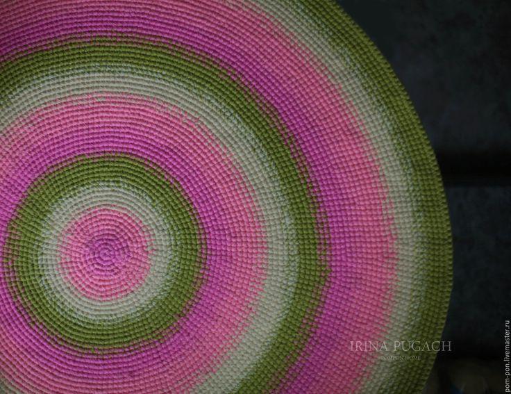 Купить Коврик круглый Леденец Экзотический - коврик для детской, коврик вязаный, ковер ручной работы