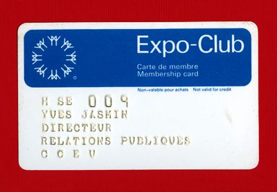 Expo 67 Special Passes