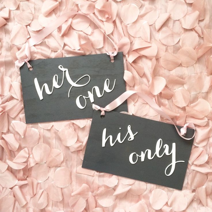 Chair Signs / Bride and Groom Signs / Mr. and Mrs. Signs / Wedding Signs / Her One His Only Props / Calligraphy Signs / Laser Cut Signs by SugarAndChicShop on Etsy https://www.etsy.com/listing/235490828/chair-signs-bride-and-groom-signs-mr-and