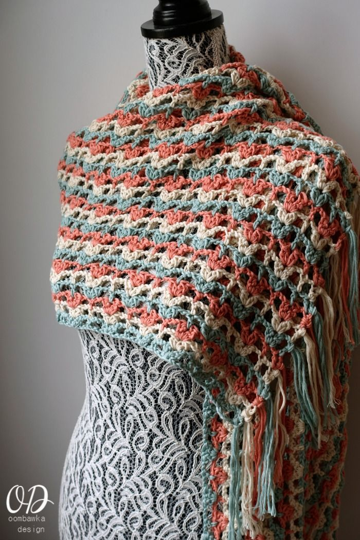 Awesome Free Crochet Patterns Shawls And Wraps Festooning - Blanket ...