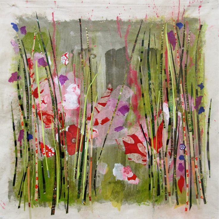 Patricia Blin  2012  Diptyque 2  Technique mixte sur toile   36 X 36 cm Collection particulière