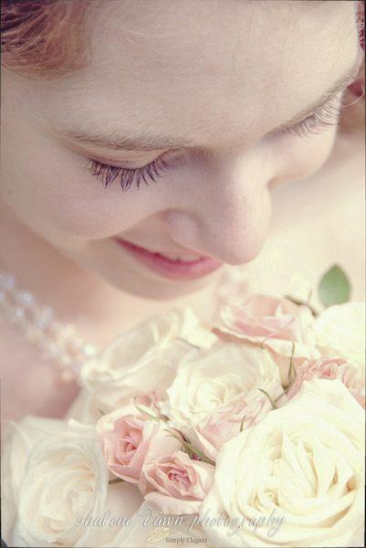 Shalene Dawn Photography | Bride Portrait Rose Bouquet Detail