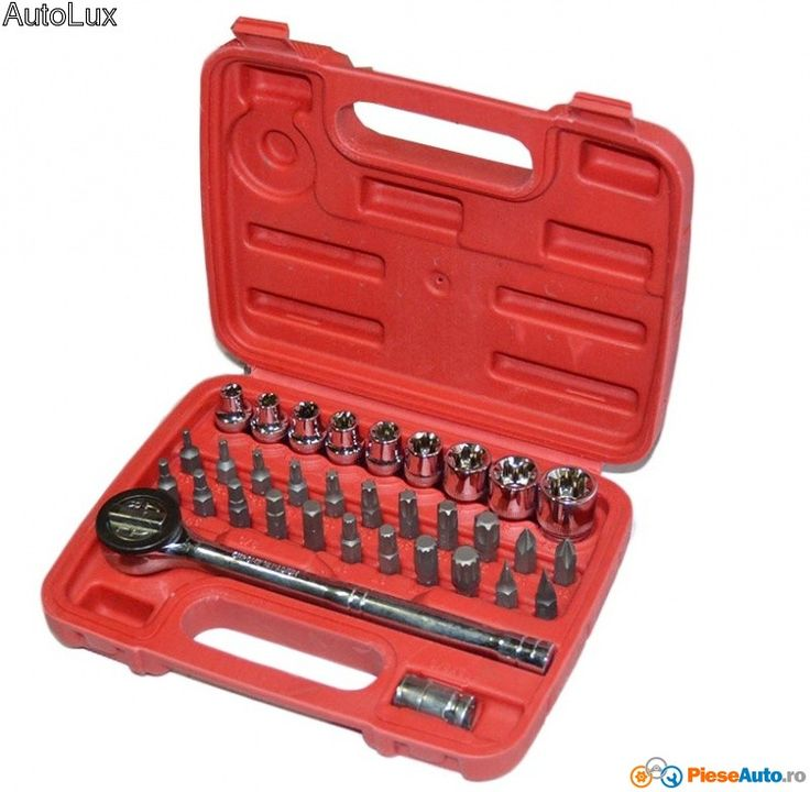 Trusa chei tubulare 33 pieseProducator Real PartsContine 33 piese:Cap cheie…