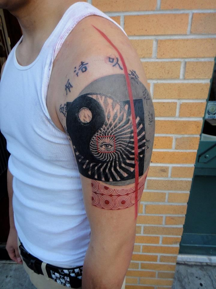 Xoïl, Needles Side TattOo  Ying Yang please,Tattoo culture, Brooklyn, N.Y.C