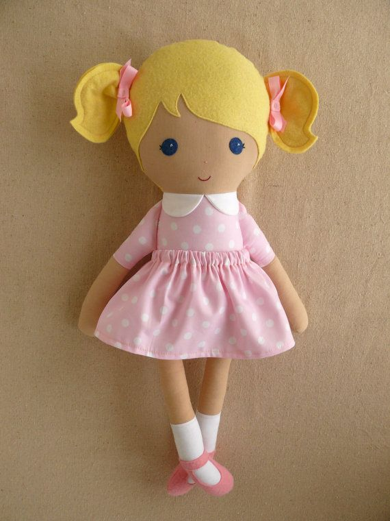 Reserved for Bek Fabric Doll Rag Doll Blond Haired by rovingovine