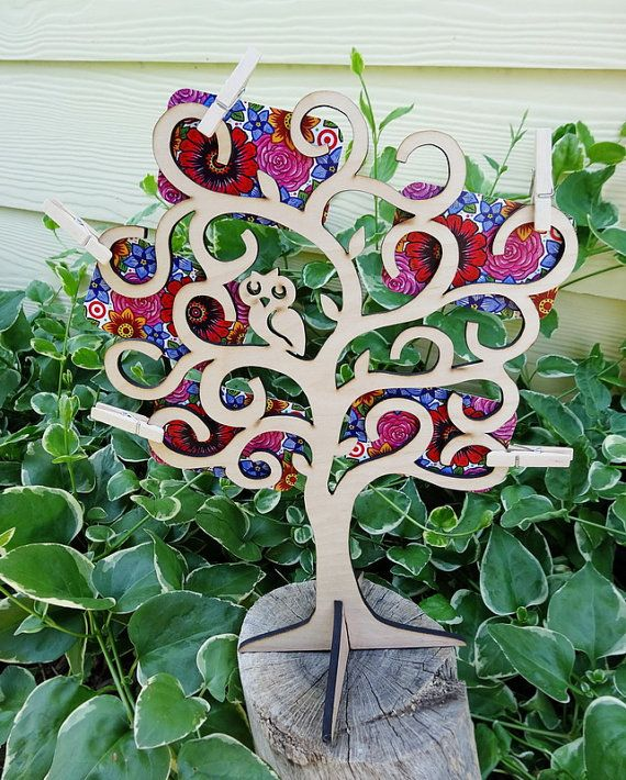 Gift Card Tree, Gift Card Holder, Owl Wooden Tree to Display Gift Cards, Cash, Lottery Tickets, Mother's Day, Graduation, Birthday, Wedding