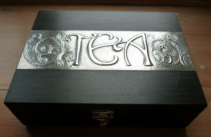Six compartment tea box.  Hand crafted by Caroline @ Pewter Concepts