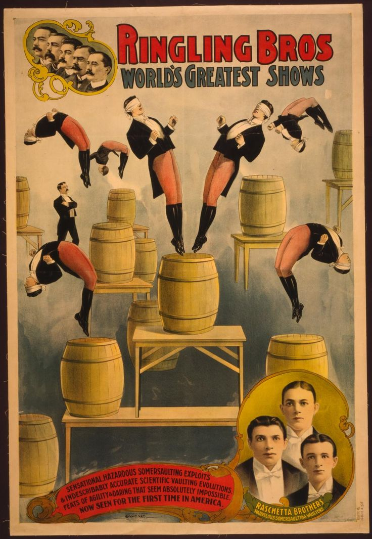 Circus poster, Ringling Bros - 1900