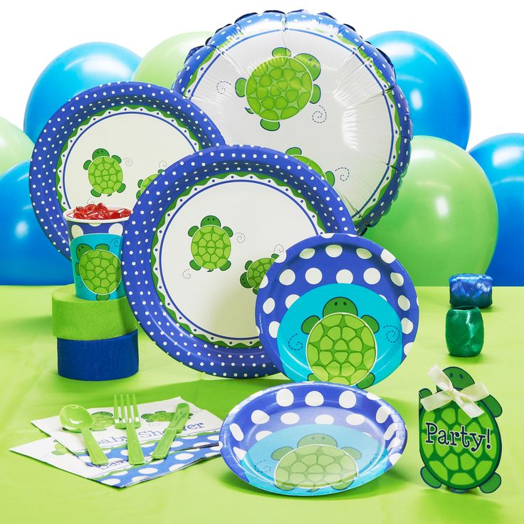 Turtle Baby Shower Theme   Mr. Turtle Baby Shower   Standard Party Pack For  8