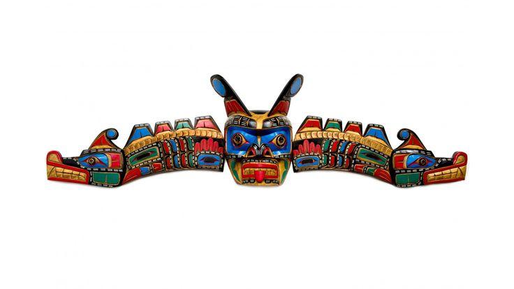Sisiutl mask carved by Jimmy Joseph (Kwakwaka'wakw).