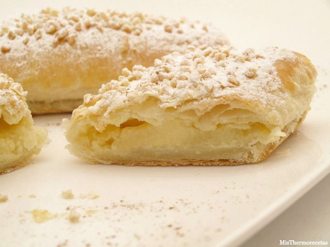 Napolitanas de crema pastelera - MisThermorecetas