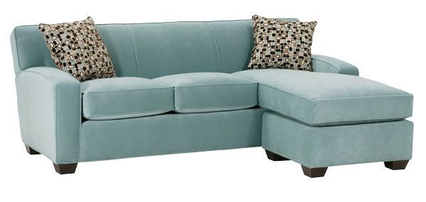 Apartment size convertable chaise sleeper sofa
