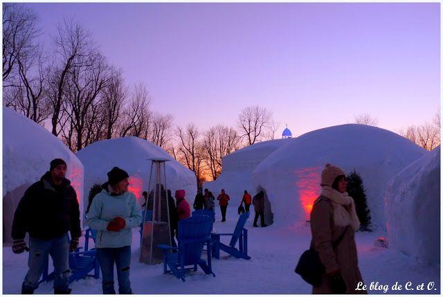 Visite du village des neiges sue l'île Jean Drapeau de Montréal