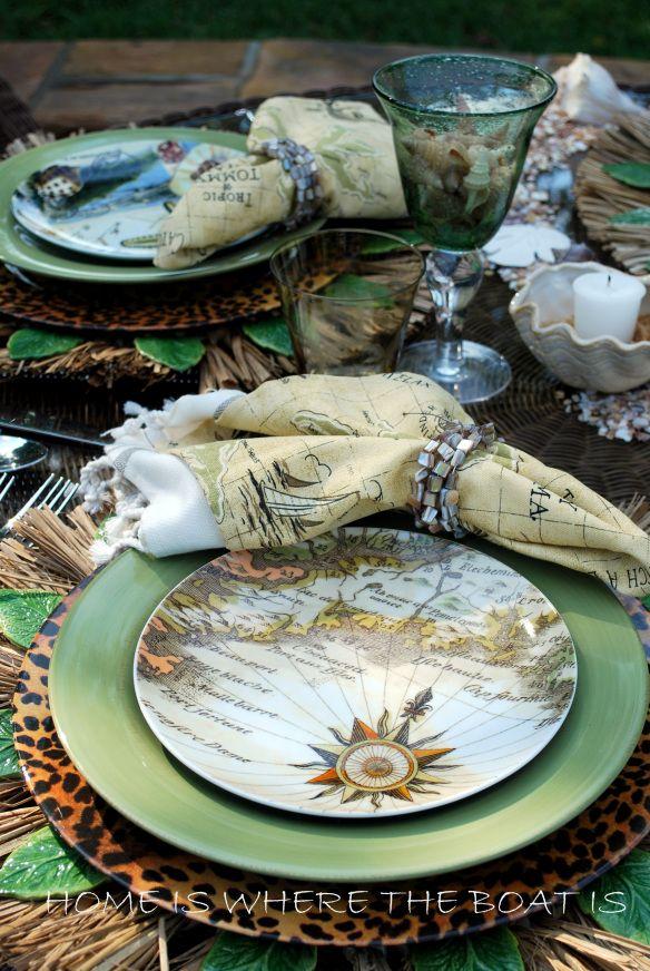 Tropic Of Tommy Bahama Beach Inspired Decor Elegant Dining Beautiful Table Settings