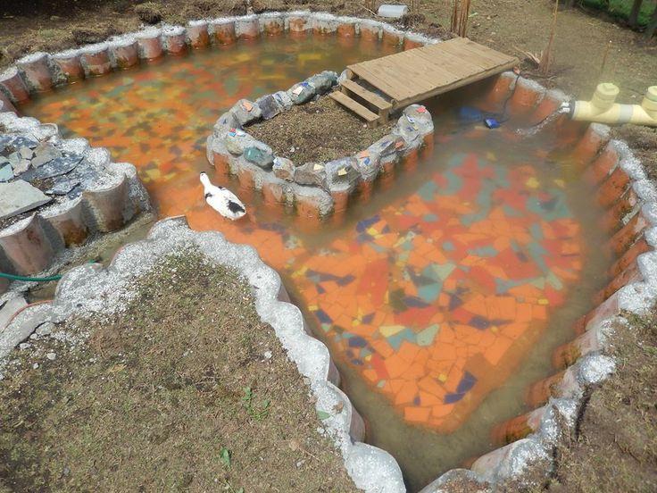 8 best images about jardineria estanque para patos y for Como hacer una pileta en el jardin
