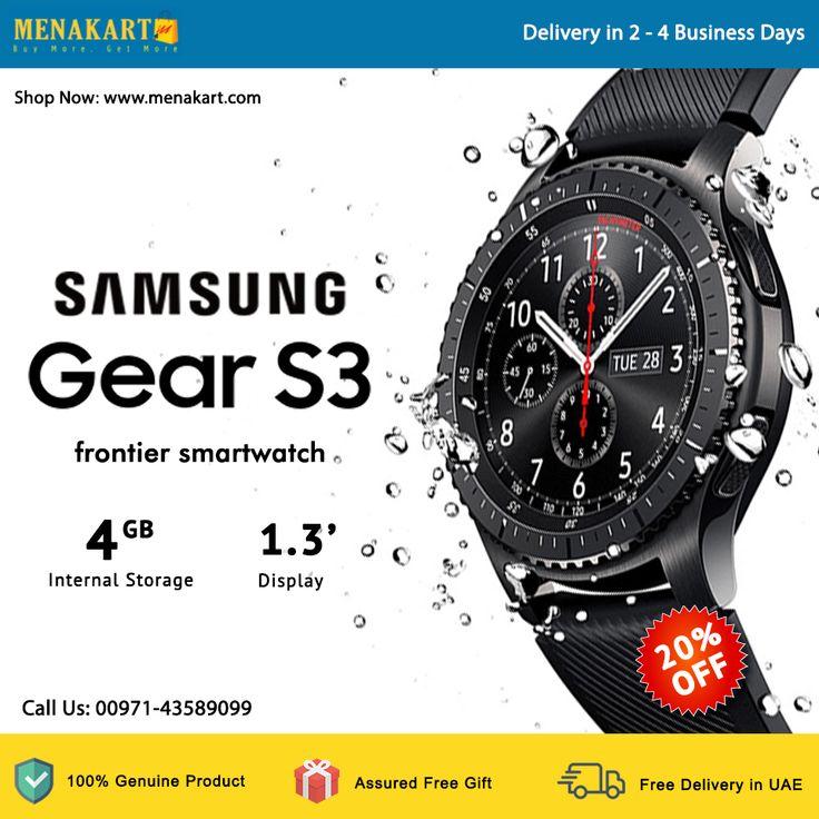 Buy Samsung Gear S3 frontier smartwatch - Black at best price in Dubai Online