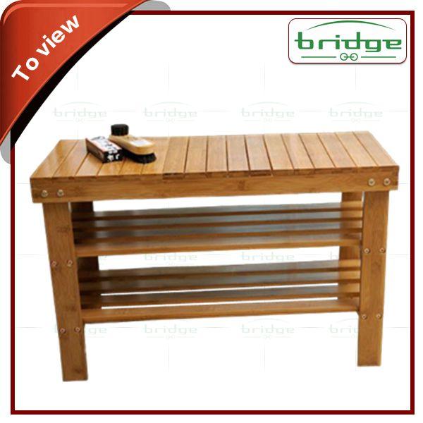 Estilo banco de bambu sapateira-em Suportes e estantes de armazenagem de Armazenamento e organização doméstica em m.portuguese.alibaba.com.