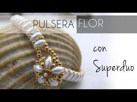 Abalorios - Pulsera Flor con Superduo - YouTube