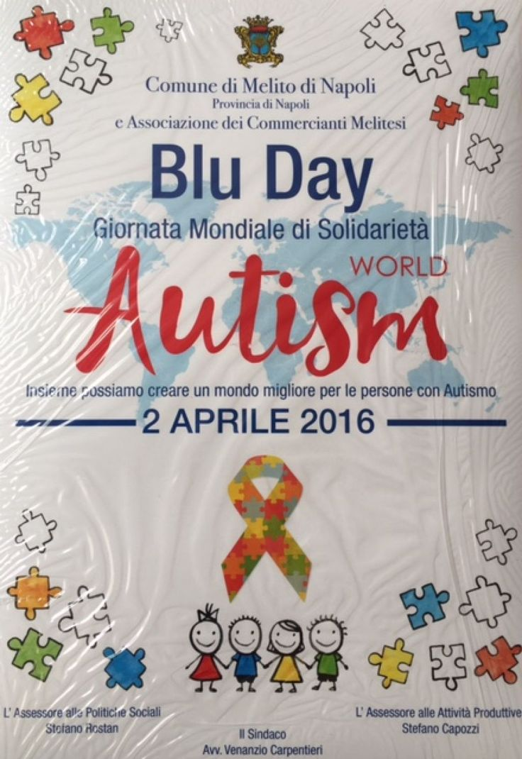 Melito, 2 aprile 2016 giornata mondiale della consapevolezza sull'autismo