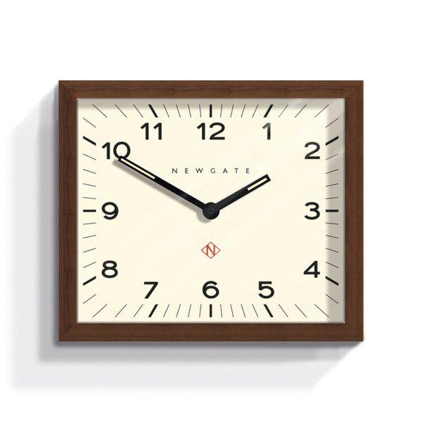 Modernist Rectangular Wall Clock Mr Davies By Newgate Hardtofind In 2020 Mid Century Modern Wall Clock Wall Clock Wood Wall Clock