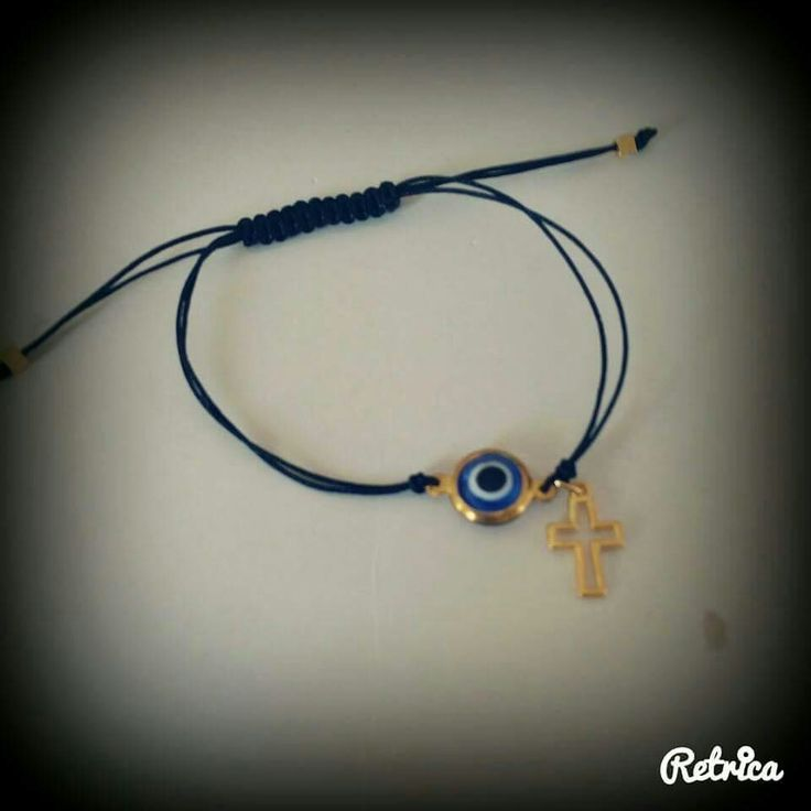 Han made bracelet with evil eye and cross!