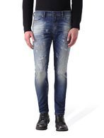 DIESEL SPENDER JOGGJEANS. A traditional denim in a hybrid fabric with button-eye closure. Low fly-front design allows for more thigh room in a skinny fit. Slimmest fit of the Jogg Jeans family, but the performance fabric makes it comfortable for various body types.
