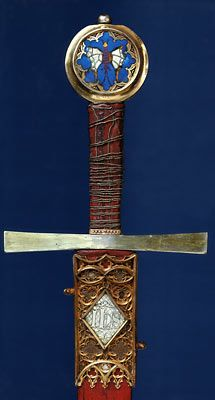 """14th century sword. It is known as """"The Sword of St. George""""."""