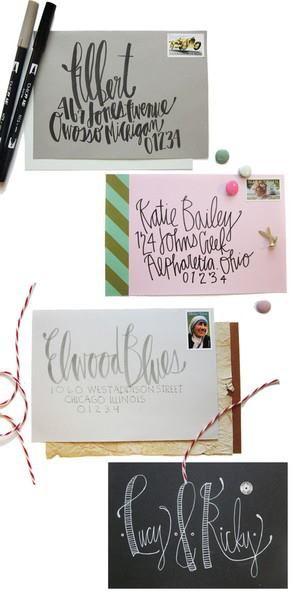 cute way to address envelopes