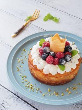「王様のベイクドチーズケーキ」上岡麻美 | お菓子・パンのレシピや作り方【corecle*コレクル】