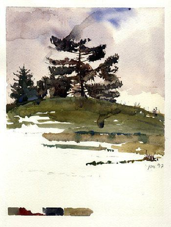 Andrew Wyeth Watercolor Paintings | Peter Vilhelm Nielsen - About Andrew Wyeth, watercolor and technique