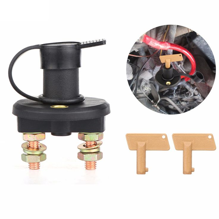 Car Battery Isolator Disconnect Cut OFF Power Kill Switch 12V/24V For Marine Car Boat Rv ATV Vehicles