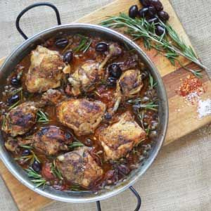 Roasted Chicken w Olives, Rosemary & Capers By Chef Mike Ward