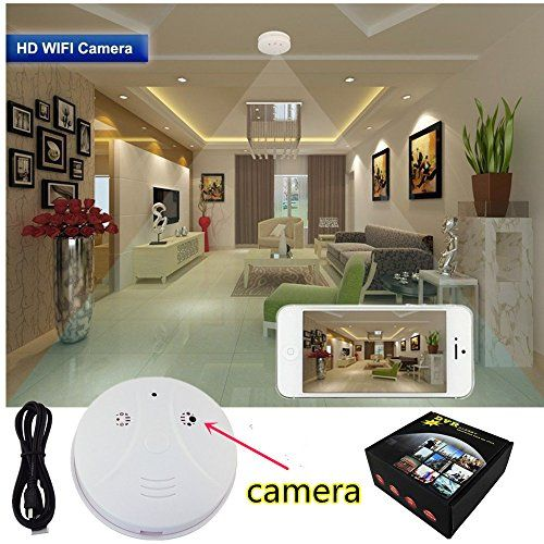 1080P Hidden Camera Smoke Detector Wifi IP Camera Camcorder Video Recorder Security DVR Motion Detection -