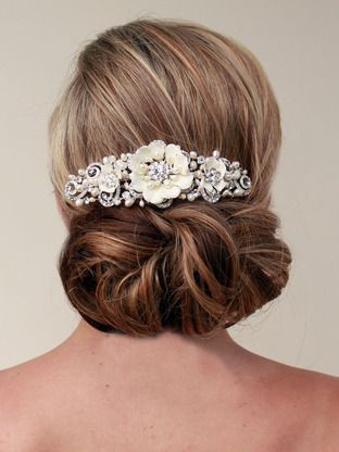 Romantic Flower Bridal Hair Comb ~ Lena
