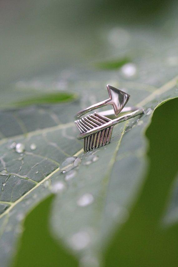 Anillo de plata anillo de la flecha Tiny Midi por DonBiuSilver