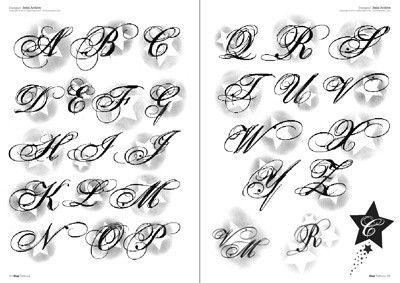 Letras Tattoo Stencil Alfabeto  Pinterest