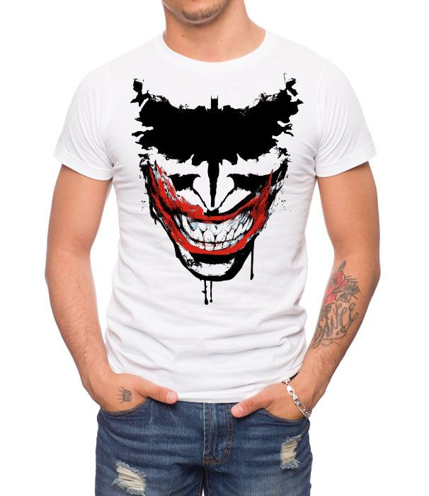 This joker bat grin t shirt is a jack of all trades online for Riddler t shirt with bats