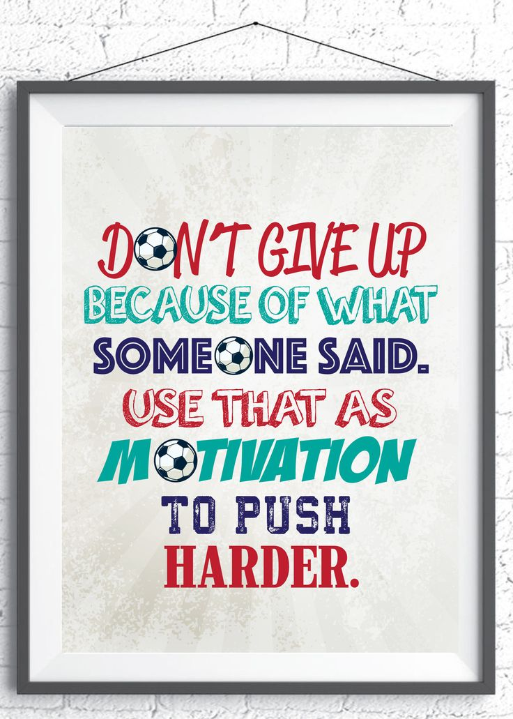 Inspirational quote for soccer players. Instant Download. Gift for Soccer player. Soccer Gifts. Soccer Art. Inspirational Soccer Wall art. by SoccerDreams on Etsy