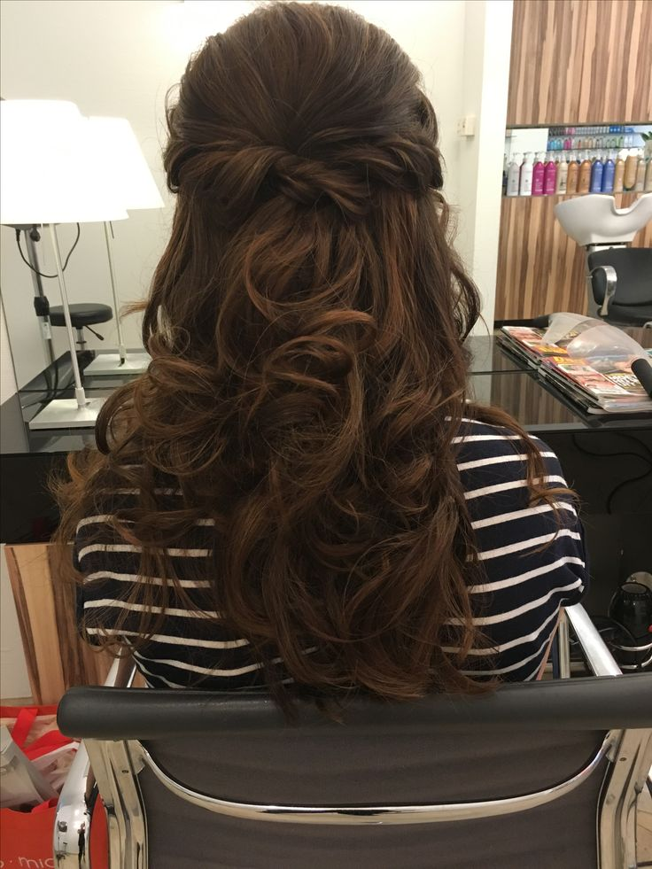 opsteekkapsel, bruin haar, lang haar, bruidskapsel